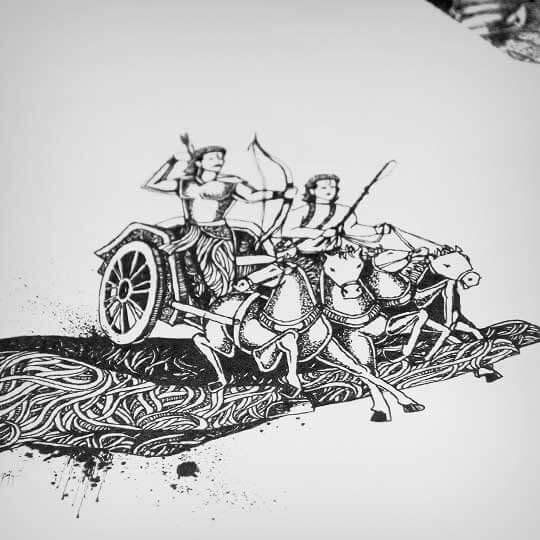 Kurushetra - Doodle Artwork