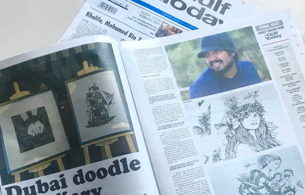 Dubai Doodle Diary - Gulf Today Interview