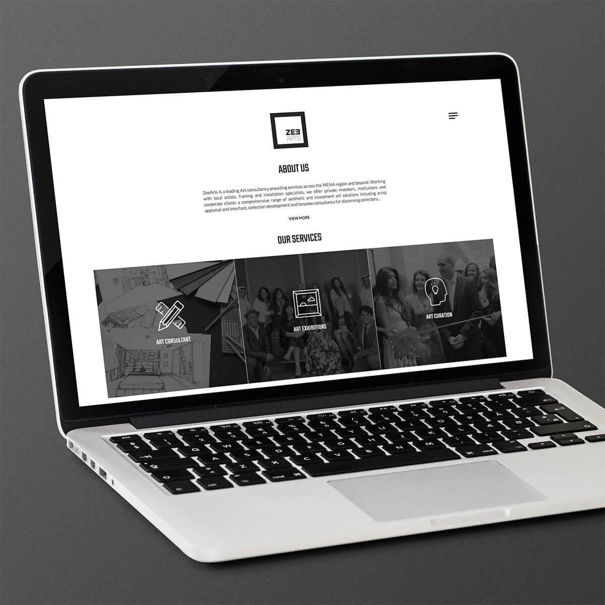 Zee Arts - User Interface Design