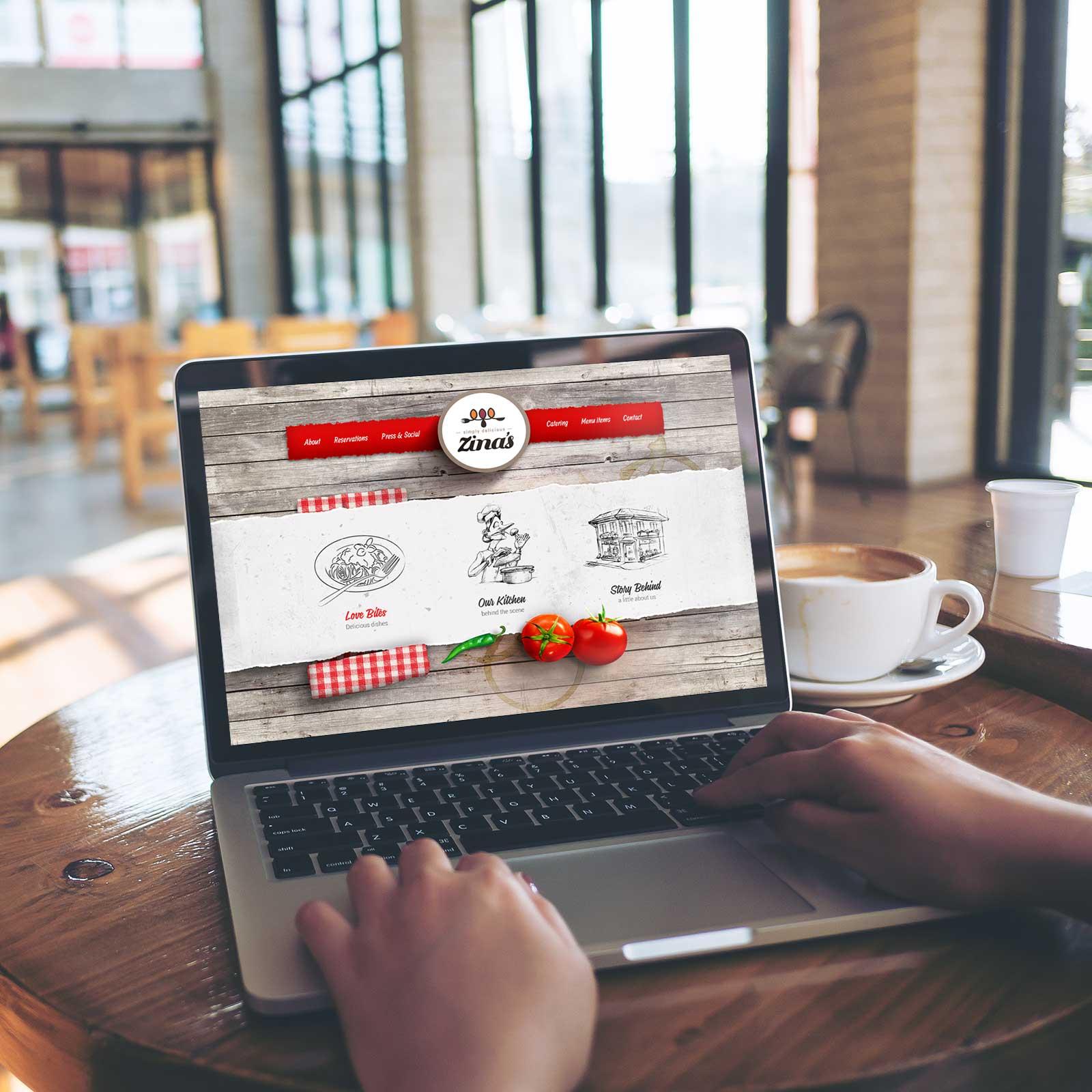 Zinas Restaurant - User Interface Design