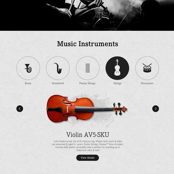 Music Room - User Interface Design