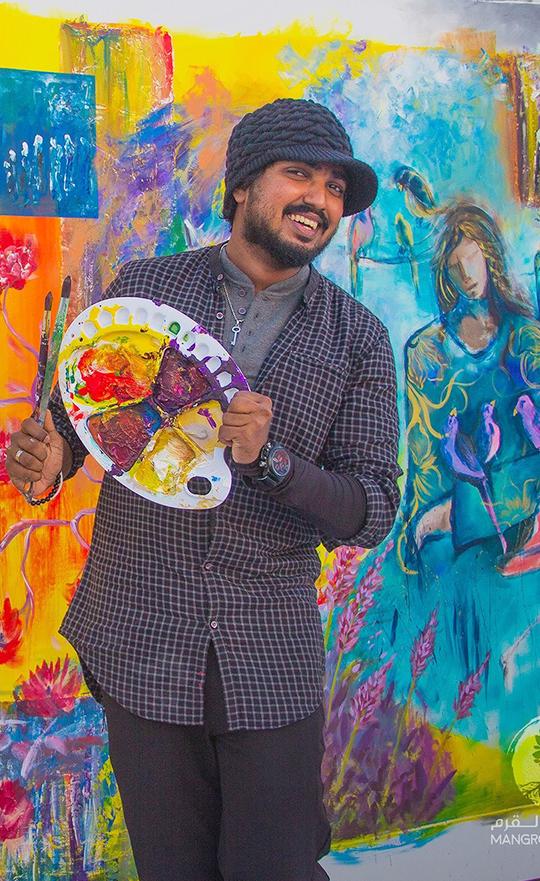 Live painting @ Mangrove Fest Goverment of Ras Al Khaimah