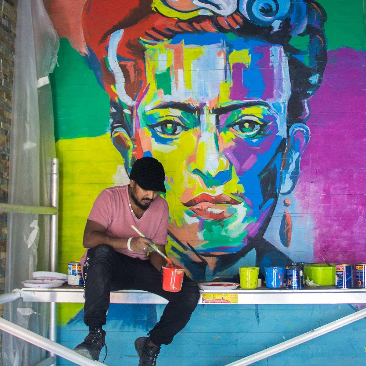Frida Kahlo Painting @ Le meridien