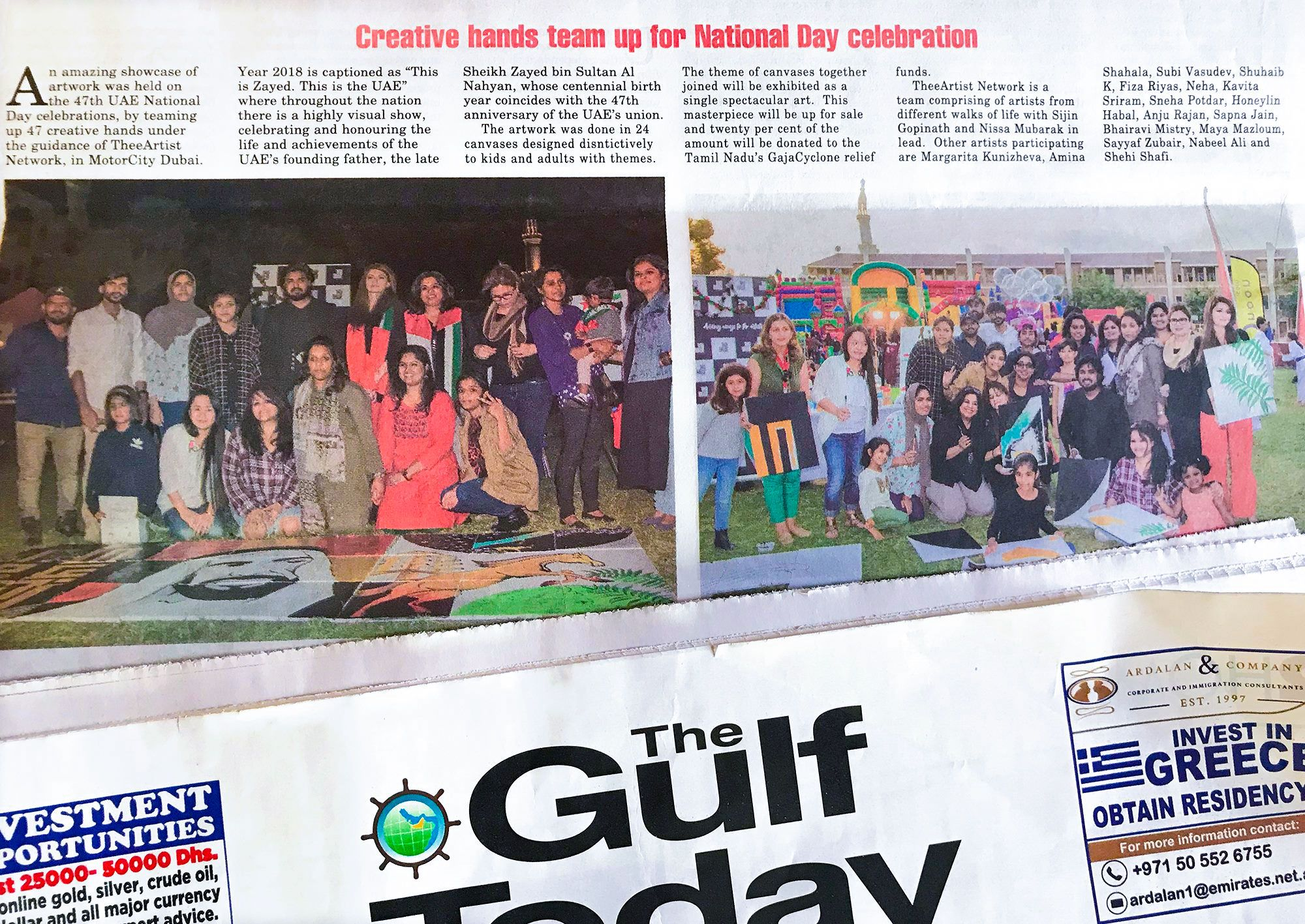 Creative hands team up for the National Day celebration - Gulf Today