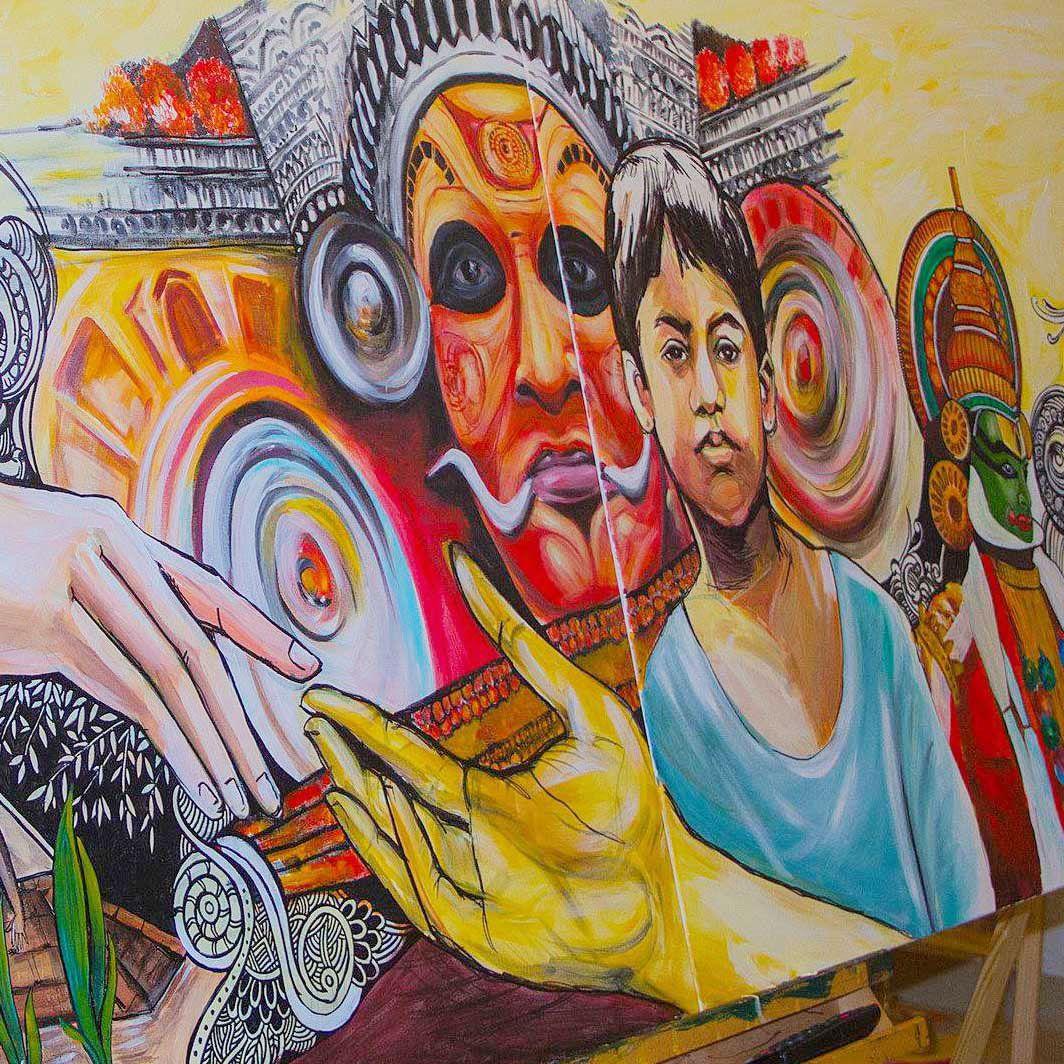 Rebuild Kerala - Art For Sale