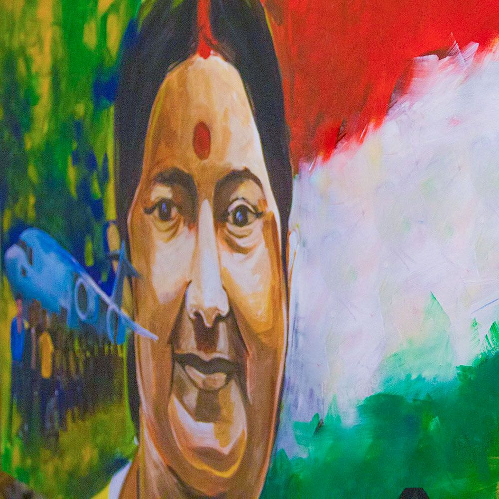 Art Tribute to Sushma Swaraj - UAE