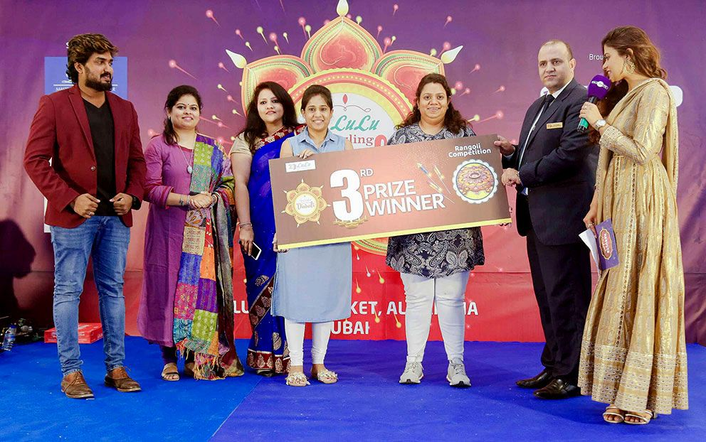 Office Judge of Rangoli Competition 2019 by Lulu Groups International