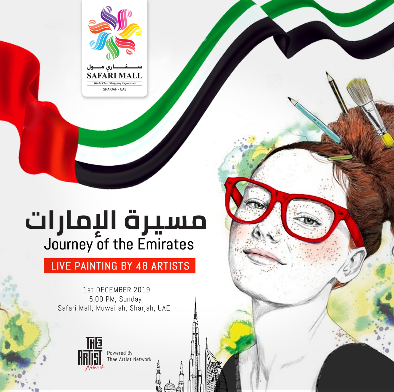 Journey of the Emirates! Live Painting by 48 Artists