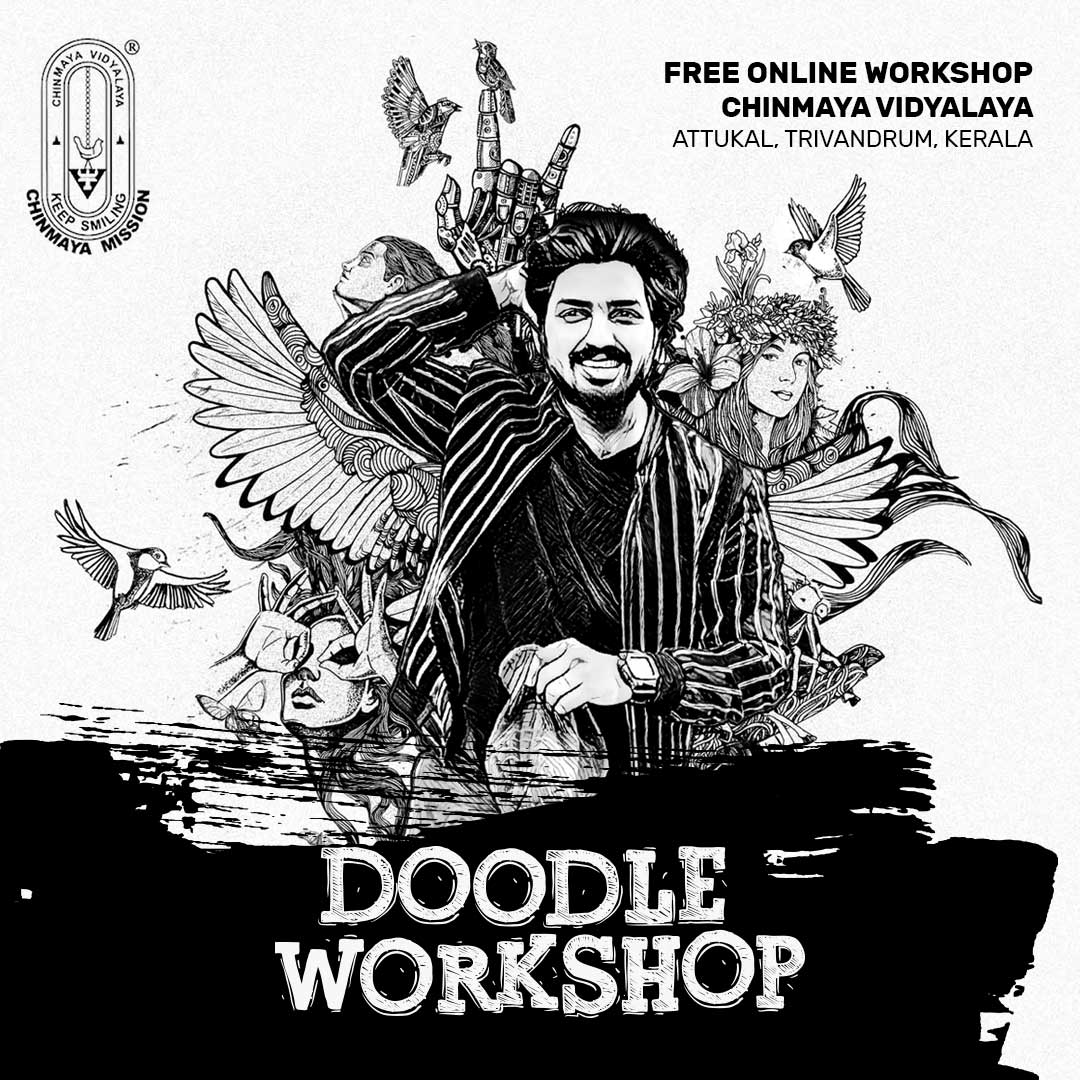 Online Doodle workshop for Chinmaya Vidhalaya School