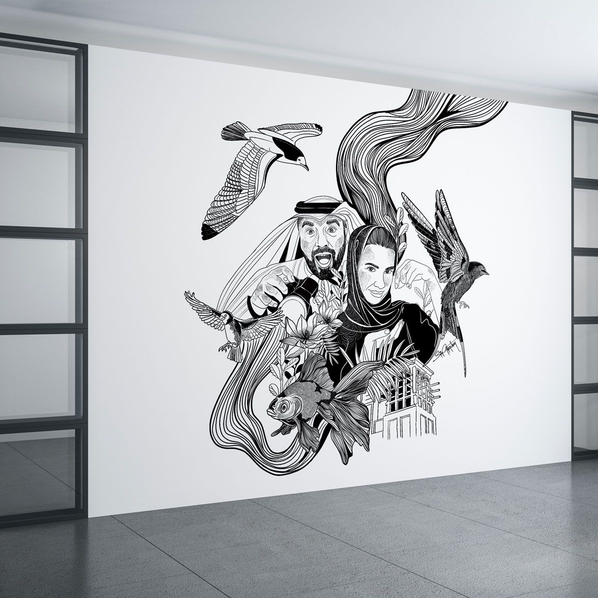 Doodle Artworks of Khalid Al Ameri and Salama Mohamed