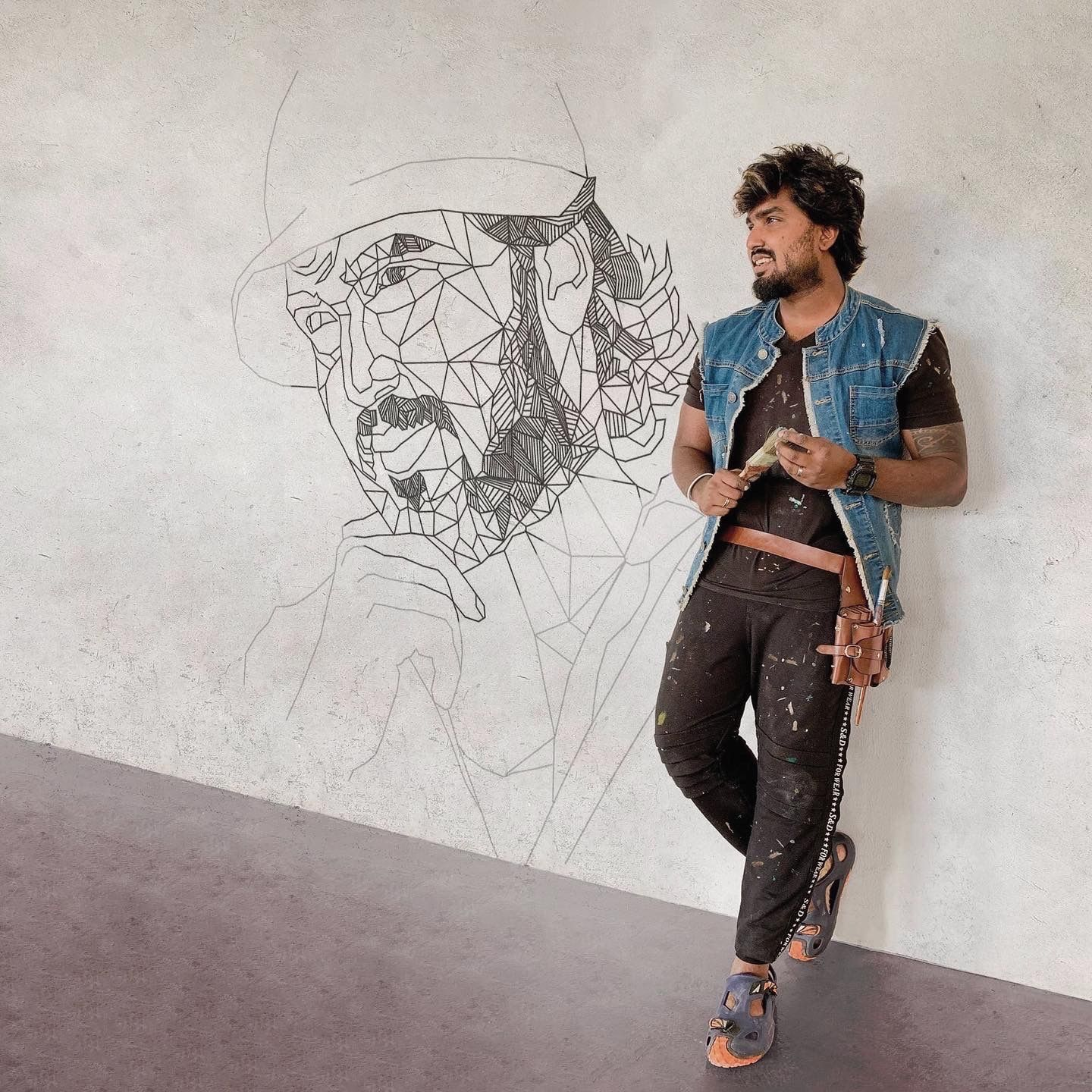 Indian artist based in Dubai, Created masterpiece by unleashing his doodling skills