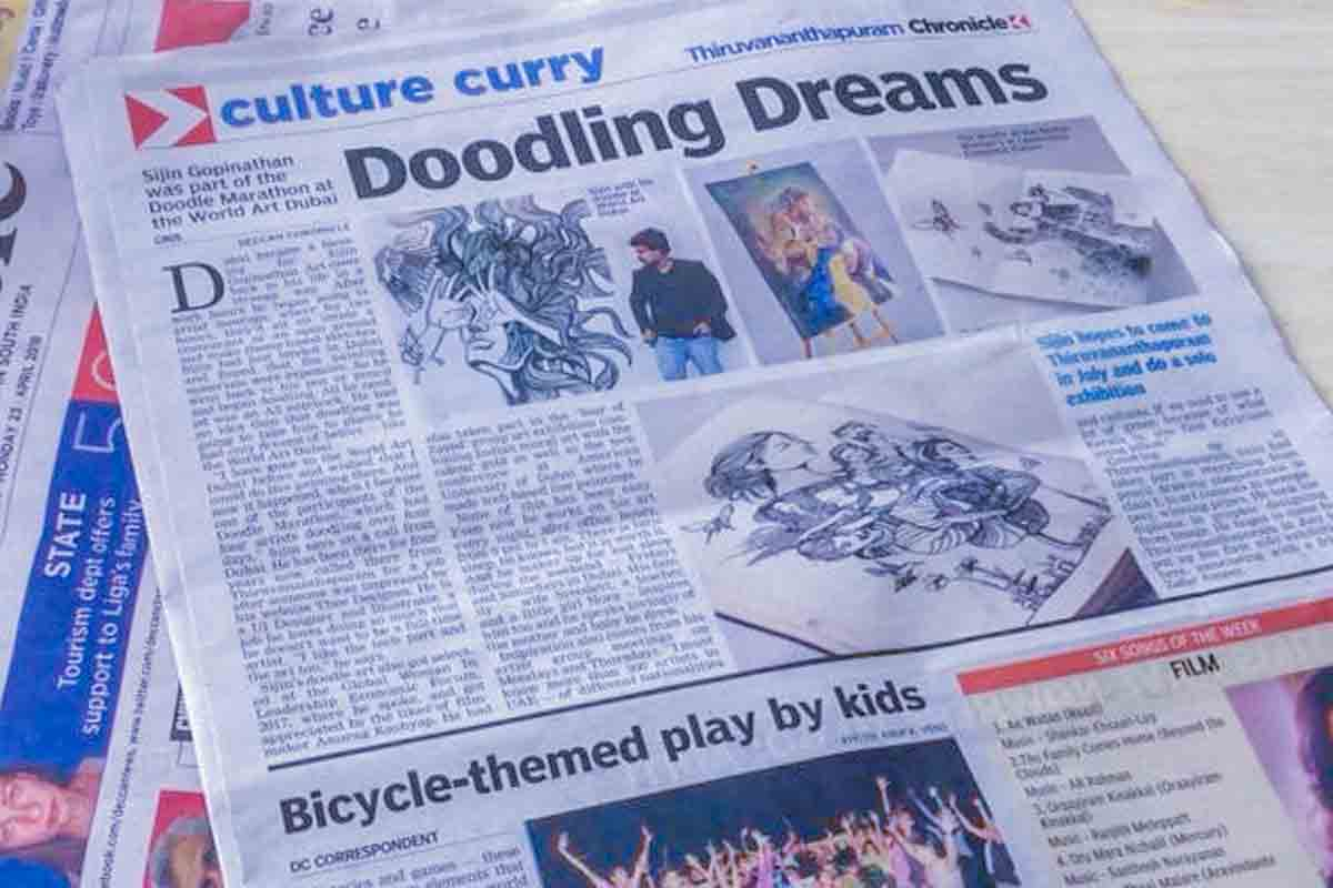 Doodling Dreams - Deccan Chronicle Interview