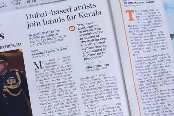 Dubai-based artists join hands for Kerala - Gulf News