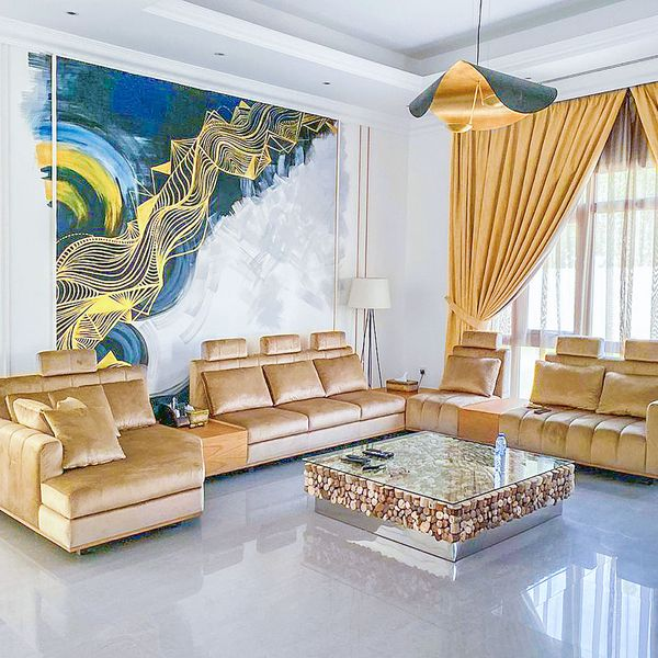 Interior Luxury Villa wall art inspired by Mural impression works