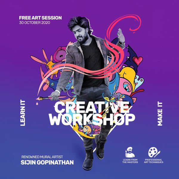 Creative Art workshop with Sijin Gopinathan